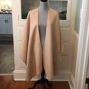 $595 Alicia Adams Alpaca double sided cape new